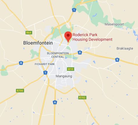WHERE IS RODERICK PARK IN BLOEMFONTEIN